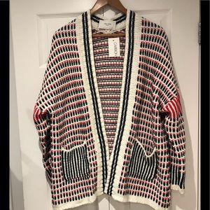 JOLIEE PARISLadies /Open Cardigan/ Red, Blk/ S/
